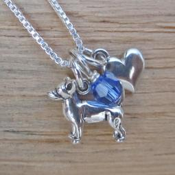 Chihuahua Mini Heart Sterling Silver Necklace