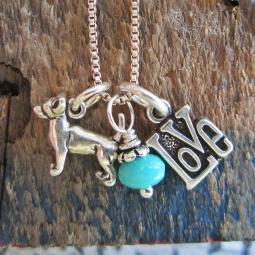 Chihuahua Love Mini Sterling Silver Necklace