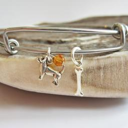 Chihuahua Mini Bone Stackable Bangle Bracelet