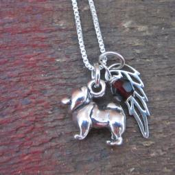 Chow Mini Angel Wing Sterling Silver Necklace