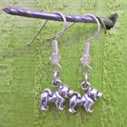 Chow Sterling Silver Earrings