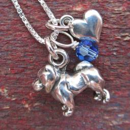 Chow Mini Heart Sterling Silver Necklace