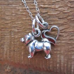 Chow In My Heart Mini Sterling Silver Necklace