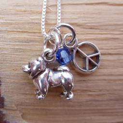 Chow Mini Peace Sterling Silver Necklace