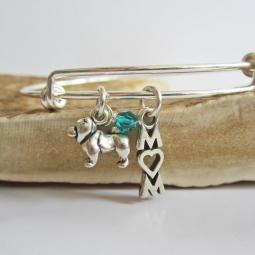 "Chow Mom Stackable Bangle Bracelet (2.5""-3"")"