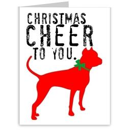 Pit Bull Christmas Cheer Note Cards (#6)