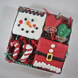 Christmas Squares Dog Treat Assortment