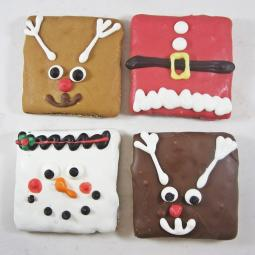 Medium Christmas Square Dog Treat