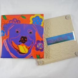 Happy Clam Pit Bull Angela Bond Coaster