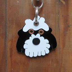 Cockapoo Metal Rivet Tag/Keychain