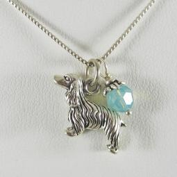 Cocker Spaniel Large Charm Sterling Silver Necklace