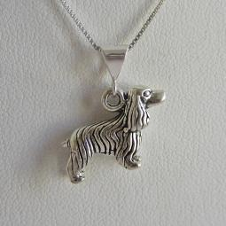 Cocker Spaniel Large Pendant Charm and Necklace