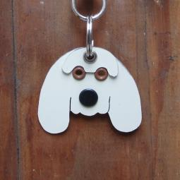 Cocker Spaniel Metal Rivet Tag/Keychain
