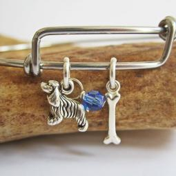 Cocker Spaniel Mini Bone Stackable Bangle Bracelet