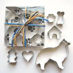 Collie Six Piece Cookie Cutter Set + a Letter!