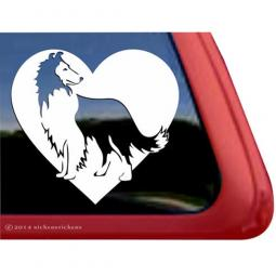 Collie Love Large Decal