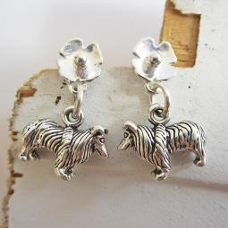 Collie Poppy Sterling Silver Earrings
