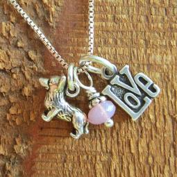 Corgi Love Mini Sterling Silver Necklace