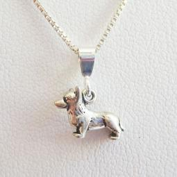Corgi Mini Pendant Charm and Necklace