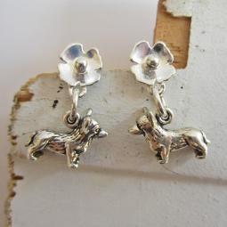 Corgi Poppy Sterling Silver Earrings