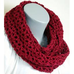 People Infinity Scarf - Cranberry