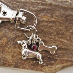 Dachshund Dog Bone Keychain