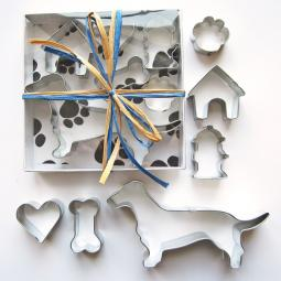 Dachshund Six Piece Cookie Cutter Set + a Letter!
