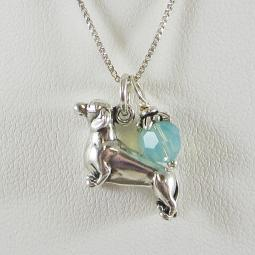 Dachshund Large Charm Sterling Silver Necklace
