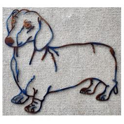 Dachshund Metal Wall Hanging - Large