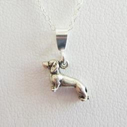 Dachshund Mini Pendant Charm and Necklace
