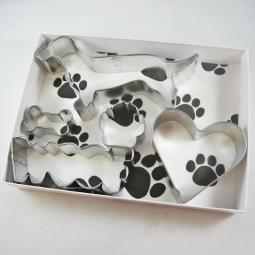 Dachshund Woof Five Piece Cookie Cutter Set + a Letter!