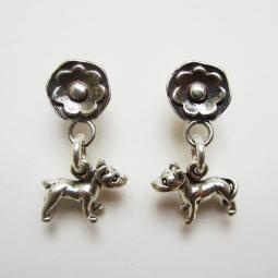 Pit Bull  Daisy Sterling Silver Earrings