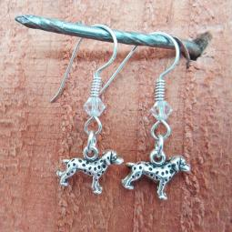 Dalmatian Sterling Silver Earrings