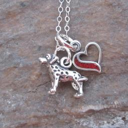 Dalmatian In My Heart Mini Sterling Silver Necklace