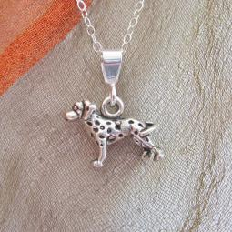 Dalmatian Mini Pendant Charm and Necklace