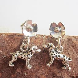 Dalmatian Poppy Sterling Silver Earrings