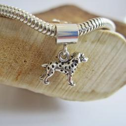Dalmatian Mini Ster Silver European-Style Charm and Bracelet