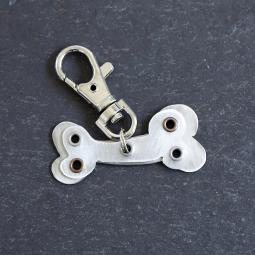 Dog Bone Metal Rivet Tag/Keychain