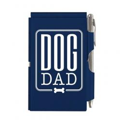 Dog Dad Blue Slim Notepad and Pen