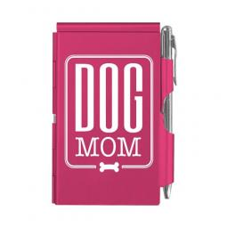Dog Mom Pink Slim Notepad and Pen