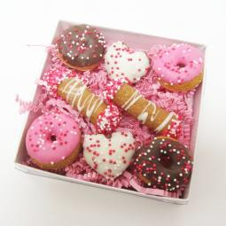 Mini Donut, Heart and Cannoli Dog Treat Set