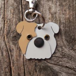English Bulldog Metal Rivet Tag/Keychain