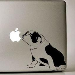 English Bulldog Sitting Large Decal
