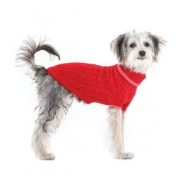 XXL Red Cable Knit Dog Sweater