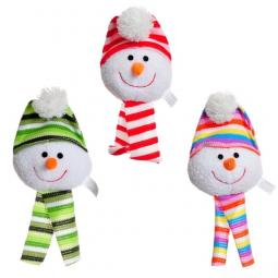 Ethical Products Holiday Snowball with Scarf Dog Toy