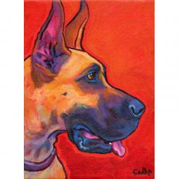Smiling Fawn Great Dane Print