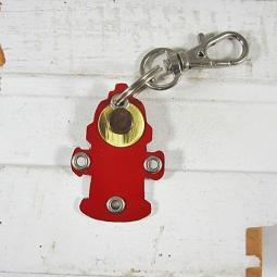 Fire Hydrant Dog Metal Rivet Tag/Keychain