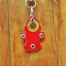 Fire Hydrant Metal Rivet Tag/Keychain