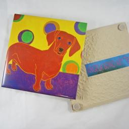 Footlong Fun Dachshund Angela Bond Coaster