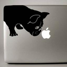 Black French Bulldog Large Decal